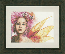 Lanarte Romantic Fairy Cross Stitch Kit, 460640, 30ct linen