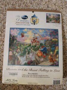 "Thomas Kinkade ""Beauty & The Beast Falling In Love"" Counted Cross Stitch Kit...."