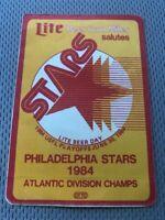 RARE Vintage USFL Philadephia Stars Lite Beer Vinyl Sticker - 1984