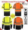 Hi Vis TShirt ANSI Class 3 Reflective HIGH VISIBILITY Safety Shirt Black Bottom