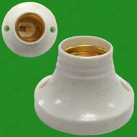 6x Edison Screw Socket ES E27 Light Bulb Holder Lamp Surface Fixing 63mm Base 6A