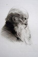 CADWALLADER COLDEN WASHBURN, pointe seche originale, portrait de Washburn, dimen