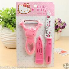 New style Hello kitty Paring knife suit kitchen ware Cute cartoon KT knife