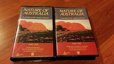 NATURE OF AUSTRALIA PART ONE & TWO - 2 X ABC CLAMSHELL 1988 VHS VIDEO'S
