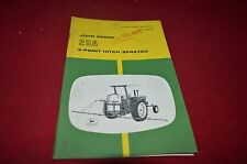 John Deere 25A 3 Point Hitch Sprayer Operator's Manual BWPA