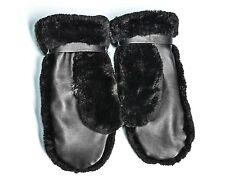 Sheared Black Beaver Fur/Leather/ Wool Lining Women's Men's Unisex Winter Mitten