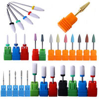 Ceramic Carbide Nail Drill Bits Grinding Polishing  Nails Pedicure Tool