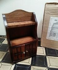 Miniature Vintage Wooden Hutch w/ Opening Doors and Original box no. 93017