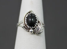 Sterling Silver & Onyx Ring Southwestern Design Size 6