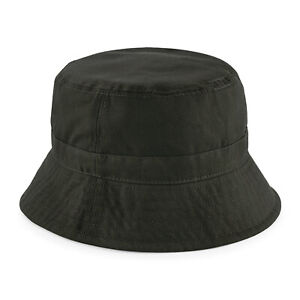 Olive Green OutdoorWaxed Wax Bucket Hat - Two Sizes