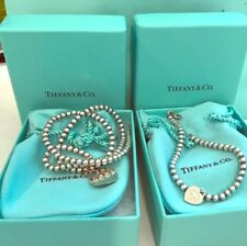 Authentic Tiffany & Co. Sterling Silver Beaded Necklace and Earring Set