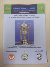 Walsall Away Team League Cup Final Football Programmes