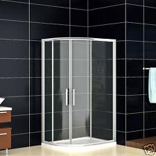 900 x 760 Quadrant Shower Enclosure + New Tray Left Entry Corner Cubicle Door