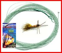 Wonderfurl Low Vis Green Furled Fishing Leader + Ring