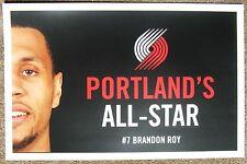 BRANDON ROY Blazers 2008 All-Star Game Handout POSTER Portland Trailblazers