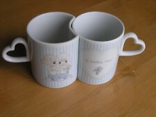Vintage Precious Moments A Perfect Team Resting Coffee Cups Mugs Enesco Japan