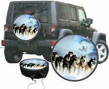 Husky Ghost Schlitten Hunde Gespann Polar Aktion  Auto SUV Radcover - Bezug