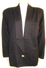 GIANNI VERSACE NAVY BLUE JACKET SINGLE BUTTON MADE IN ITALY ladies 42 VTG 1980's