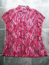 Women's Target Red, Pink, Black & White Crinkle Polyester Blouse Size 16 VGUC
