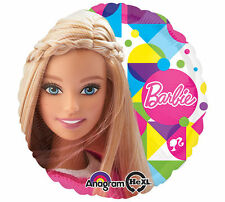 "BARBIE BALLOON 17"" NO MESSAGE BARBIE PARTY SUPPLIES DIAMOND ANAGRAM BALLOON"