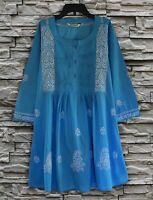 Ayurvastram - BIBA Hand Embroidered Cotton Tunic (Plus Sizes)