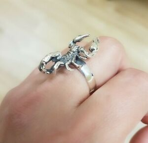 Scorpions Ring, Unisex Ring , sterling silver scorpion jewelry