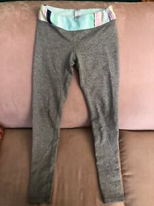 Girls Ivivva lululemon size 8 grey chambray leggings size 8