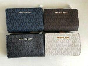 NWT Authentic Michael Kors Bifold Zip Coin Wallet