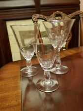 Nancy Prentiss Enchanting Orchid ICED TEA(s) by Tiffin cut etched dot swirl