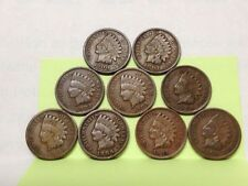 Lot of Nine (9) Circulated Indian Heads - all 1900's