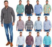 NEXT Mens Plaid Shirts Lumberjack Tartan Check Long Sleeve Small Medium Large XL