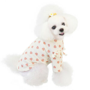 Soft Pet Dog Clothes Knitted Sweater Comfort Puppy Elastic Love Pattern T