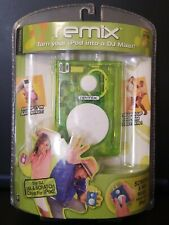 Remix Turn iPod Into A DJ Mixer  Mixtools Spin Master Lime Green 2006 Brand New