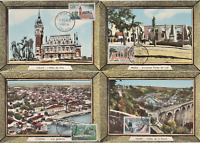 SERIE COMPLETE SITES 1961 CARTES MAXIMUM DINAN MEDEA CALAIS COGNAC FDC 1ER JOUR