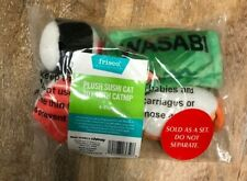 Frisco Sushi Plush Cat Toy with Catnip, 4-count New