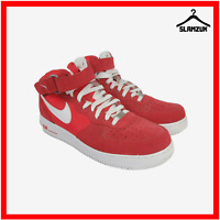 Nike Air Force 1 Mid 07 Mens Leather Trainers UK 10.5 / 45.5 Fusion Red Sneakers
