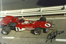 Emerson Fittipaldi F1 Gold Leaf Lotus 72 signed photo 1971 Austrian Grand Prix