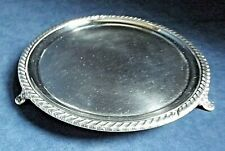 "SUPERB 8"" ~ Sheffield SILVER Plate ~ GEORGIAN~ Salver TRAY ~ c1820"