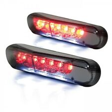 Mini LED Luz Trasera Universal Ahumado Luz Placa Matrícula Motocicleta