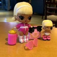 Lot 2 Big & Lil sister LOL Surprise Doll Lil Sisters eye spy Drag Racer Doll Toy