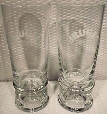 "Set of 2 ~ 7"" BRUGAL Arejo logo Glasses cocktail glass Barware"