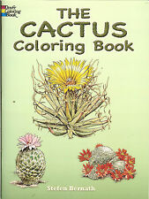 The Cactus Coloring Book from Dover Publications, NEW PB