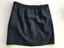 NWT Ann Taylor LOFT Shimmery Navy Brocade Skirt SZ 10 Textured Ogee Party $70