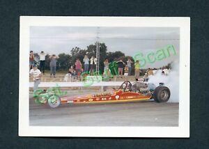 Vintage L&M films drag racing photo card Jim Nicoll Fueler dragster