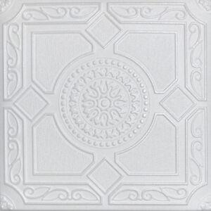 "Ceiling Tiles, Glue Up, DIY MODERN Decorative Styrofoam, LIMA 20"" x 20"" White"