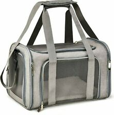 Henkelion Cat Carriers Dog Carrier Pet Carrier for Small Medium Cats Dogs Gray