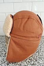 NWT Levi's Men's Hunter Trapper Hat Sherpa Lined Adj Chin Strap Tan Sz L/XL
