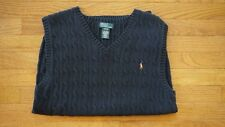 Men's size small Polo Ralph Lauren Navy sweater vest (boys size XL)