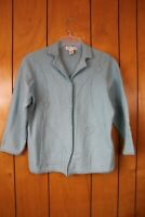 Dressbarn Womens Light Blue Colored Button Up Wool Cardigan Size 14/16