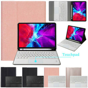 "For iPad Pro 11"" 2nd Gen 2020 Touchpad Keyboard Leather Case Cover Pencil Holder"